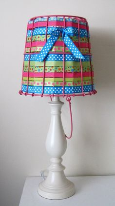 """Bucket of Light"" lamp and shade by ShabulousChandeliers. $80.00."