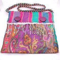 Retro 70s bag, pink and purple hippie handbag, boho shoulder bag Retro 70s bag, pink and purple hippie handbag, boho shoulder bag  Ask a Question $38.01 USD