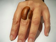 wooden ring cherry wood by Treebuddiesdesign on Etsy