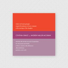 Block Printable Invitation Suite