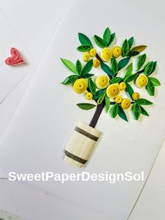 Paper Quilling Art. Handmade lemon tree от SweetPaperDesignSol