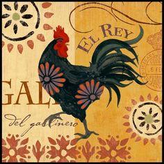 Spanish Roosters - El Rey (Jennifer Brinley)