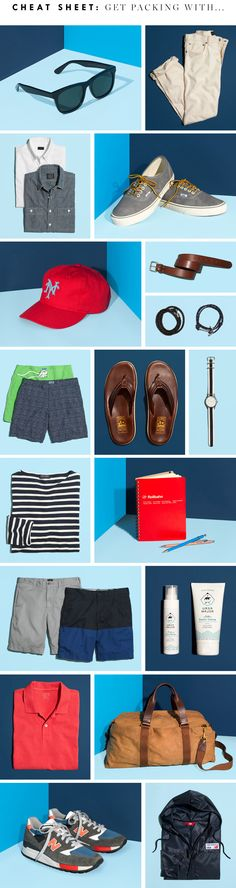 For the guys!   Cheat Sheet: Get Packing - J.Crew