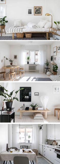 27 trendy home design inspiration living room small spaces studios Scandinavian Interior Bedroom, Scandinavian Apartment, Home Design, Interior Design, Nordic Design, Deco Boheme, Small Space Solutions, Studio Apartment Decorating, Tiny Apartments