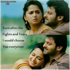 Image may contain: 4 people Movie Love Quotes, Love Husband Quotes, True Quotes, Best Quotes, People Quotes, Qoutes, Romantic Dialogues, Travis Fimmel, Prabhas And Anushka