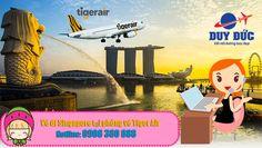 Vé máy bay đi Singapore tại phòng vé Tiger Air quận 7