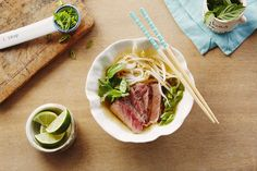 This Instant Pot Beef Pho recipe is filled with traditional Vietnamese seasonings and flavors. Beef Kabob Recipes, Soup Recipes, Cooking Recipes, Allergy Free Recipes, Healthy Recipes, Campbells Recipes, Beef Kabobs, Quick Dinner Recipes, Cooking