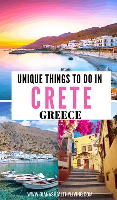 Are you heading to the beautiful Greek Islands and looking for unique things to do in Crete Greece? Whitewashed landscapes, deep blue seas, and a unique Top Travel Destinations, Europe Travel Guide, Places To Travel, Travel Tips, Travel Info, Travel Guides, Crete Greece, Mykonos Greece, Crete Chania