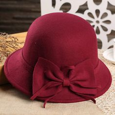Vintage-Lady-Womens-Wide-Brim-Wool-felt-Hat-Floppy-Felt-Bowler-Fedora-Cloche-Cap