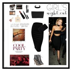 """""""Girl's Night Out, Beauty Edition"""" by tessawarongan ❤ liked on Polyvore featuring beauty, Gianvito Rossi, Balmain, Sergio Rossi, White Label, Lancôme, Borghese, Marc Jacobs, Smashbox and 90s"""