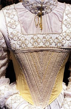 Chemise front close-up with stomach band