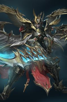 ArtStation - Warrior, rupid79 (Lee jung-myung) Fantasy Concept Art, Fantasy Armor, Strike The Blood, Lee Jung, Akatsuki, Cool Art, Character Design, Artwork, Warriors