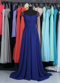 Hey, I found this really awesome Etsy listing at https://www.etsy.com/listing/186622382/royal-blue-prom-dress-with-a-full-lace