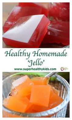 All Natural Homemade Fruit Juice 'Jello'. No more from the box jello with added sugars and artificial ingredients! www.superhealthyk...