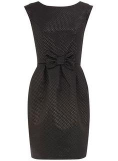 black jacquard bow dress....LOVe!