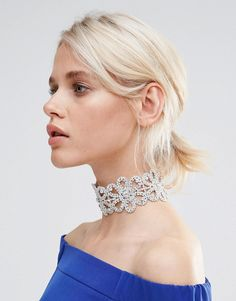 Image 1 of Love Rocks Flower Rhinestone Choker