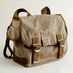 Boys' waxed-canvas backpack
