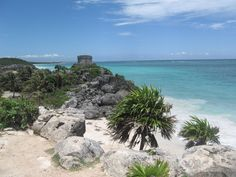 Mayan Ruins in Tulum, Mexico. One of the most beautiful places I've been to.