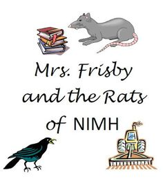 Mrs. Frisby and the Rats of Nimh worksheets to be used while reading the book. Wish I knew about this before we finished