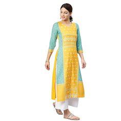 Printed Kurti, Printed Cotton, Kurta Cotton, Fancy Kurti, A Line Kurta, Dark Skin Girls, Fashion Hub, Indian Fashion, Girl Fashion
