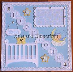 pinterest scrapbook layouts for boys | baby boy single page - Scrapbook.com