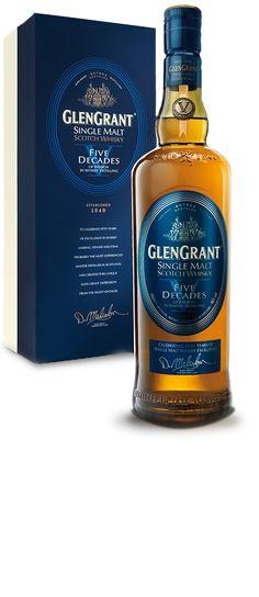 Glen Grant V Decades Single Malt Whisky available from Whisky Please.