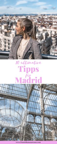 """10 amazing things to do in Madrid Attention travel lovers: Are you looking for the """"Best things to do in Madrid""""? Perfect: Because here you will find 10 ultimate tips for your next trip to Madrid: franziskanazarenu … … York Things To Do, Free Things To Do, Cool Places To Visit, Places To Travel, Travel Destinations, Madrid Hotels, Visit New York City, Bus Travel, Roadtrip"""