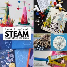 Kids have more fun when you combine favorite books with science, technology, engineering, art, & math with these Book Inspired STEAM Activities for Kids. Summer Preschool Activities, School Age Activities, Library Activities, Steam Activities, Educational Activities, Brain Craft, Fun Brain, Steam Education, Science Education