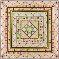 """Introducing the """"Halo Medallion Quilt"""" - The 2017 TQS BOM from Sue Garman FREE for Star Members - TheQuiltShow.com"""