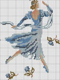 0 point de croix danseuse classique - cross stitch ballet dancer