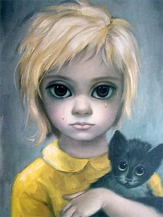 The Stray by Margaret Keane, an example of her big-eyed waifs.