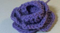 Easy Crochet 3D Flower -