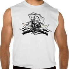 Chef Skull 5 and Black Flame Sleeveless Tees at www.zazzle.com/thechefshoppe* for those with a fierce passion for cooking. Available in many different styles and colors, including hoodies.