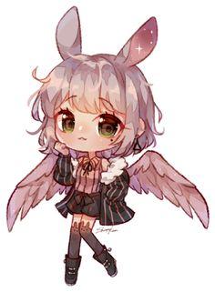 C | Maieu by Shirouu-kun on DeviantArt Chibi Characters, Cute Characters, Cute Anime Character, Cute Animal Drawings Kawaii, Kawaii Drawings, Cute Drawings, Cute Anime Chibi, Kawaii Chibi, Panda Anime Girl