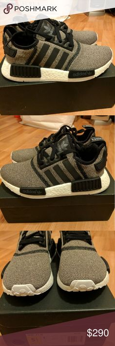 NEW WOMEN ADIDAS NMD R1 BLACK REFLECTIVE SIZE 5.5 Rare color way for adidas  women NMD 960d208c2