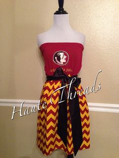 Florida Seminoles 'Noles Football UpCycled Gameday Dress by hautethreadsboutique on Etsy, $50.00