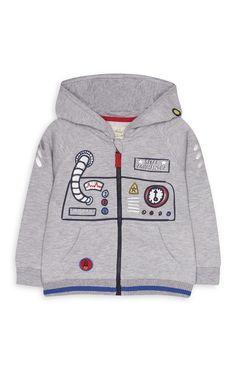 Primark - Sweat à capuche motif espace bébé garçon