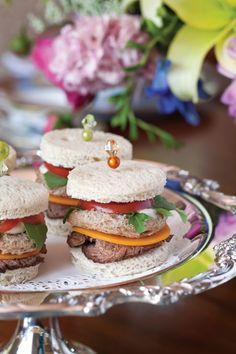 Beef and Cheddar Triple-Stack Sandwiches