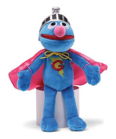 Gund Sesame Street Super Grover Beanbag Stuffed Animal Super Grover beanbag with accurate details including cape, helmet, and lightning bolt insignia Soft, huggable material built to famous GUND quality standards Surface-washable Ages 7 inch height cm) Sesame Street Toys, New Big Brother, Soft Dolls, Toddler Gifts, Elmo, Toys For Boys, Dinosaur Stuffed Animal, Character Design, Geek Stuff