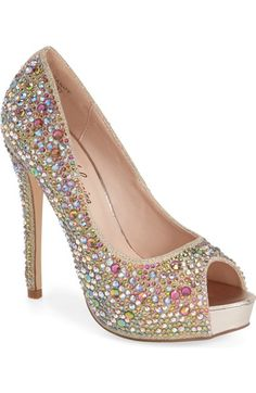 c1f76d4fe04 Lauren Lorraine  Candy  Crystal Peep Toe Pump (Women) available at   Nordstrom