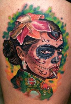 60 day of the dead tattoos you will want to get asap - 600×877