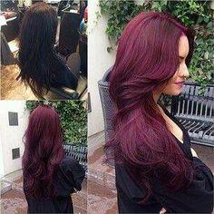 Burgudy hair