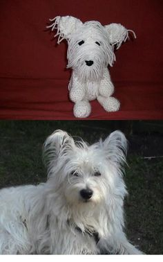 My friends westie crocheted. Free pattern at http ...