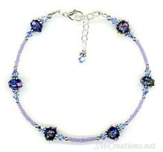 Sapphire Crystal Cobalt Beaded Anklet