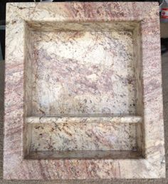 Built In shampoo box for tub or shower fabricated by theStoneWorks, $450.00