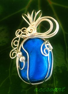 Turquoise wire wrapped stone