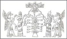 Akkadian Symbols | This illustration shows that the World-Tree continued to be an ...