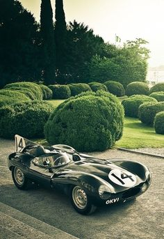 1955 Jaguar D-Type | Sports Racing Car | Stabilizing Fin | An original Jaguar Works team car  D-Types were the winners of the Le Mans 24-hour race in 1955, 1956 and 1957 | Only 18 factory team cars, 53 customer cars, and 16 XKSS versions were produced...