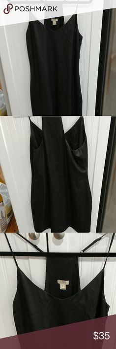 Jcrew racerback slip dress Gorgeous black slip dress fully lined with racerback straps in excellent condition J. Crew Dresses