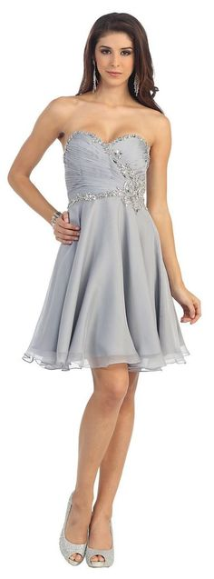Short Sweetheart Chiffon Sassy Prom Formal Party Dress - The Dress Outlet - 10